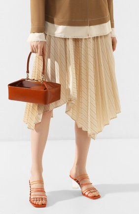 Женская сумка olivia REJINA PYO светло-коричневого цвета, арт. B26/PATENT LEATHER EMB0SS   Фото 2