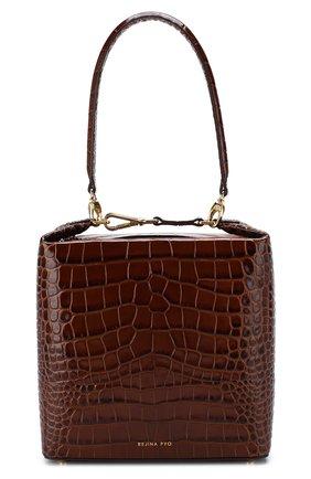 Женская сумка lucie REJINA PYO коричневого цвета, арт. B43/LEATHER EMB0SS CR0C   Фото 1