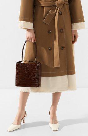 Женская сумка lucie REJINA PYO коричневого цвета, арт. B43/LEATHER EMB0SS CR0C   Фото 2