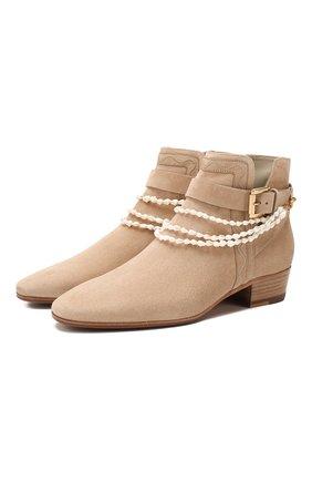 Женские замшевые ботинки SANTONI бежевого цвета, арт. WTJT58533BJ2TLCHE50 | Фото 1