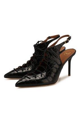 Женская кожаные туфли alessandra MALONE SOULIERS черного цвета, арт. ALESSANDRA 85-2 | Фото 1