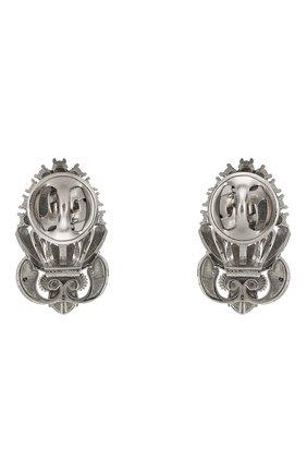 броши для воротника DOLCE & GABBANA серебряного цвета, арт. WPMC3A/W2WCL/M | Фото 2