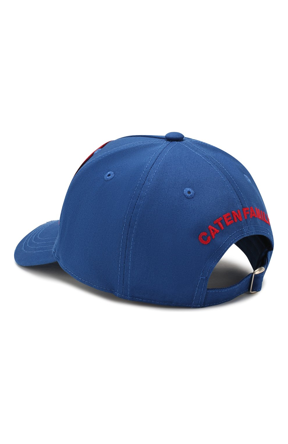 Женская хлопковая бейсболка DSQUARED2 синего цвета, арт. BCM0315 05C00001 | Фото 2
