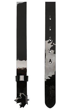 Женский кожаный ремень DSQUARED2 черного цвета, арт. BEW0023 02502820 | Фото 2