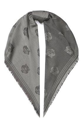 Женский платок KENZO серого цвета, арт. FA58EU543JFC | Фото 1