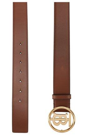 Женский кожаный ремень BURBERRY коричневого цвета, арт. 8025814 | Фото 2