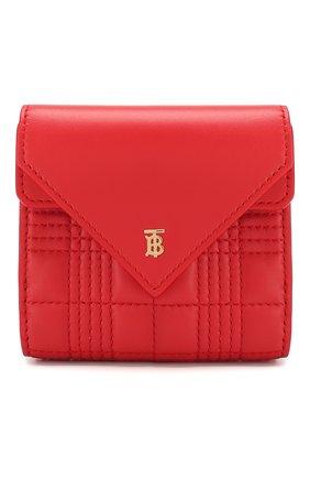 Женские кожаное портмоне BURBERRY красного цвета, арт. 8025733 | Фото 1