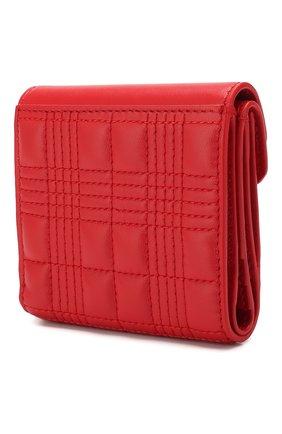 Женские кожаное портмоне BURBERRY красного цвета, арт. 8025733 | Фото 2