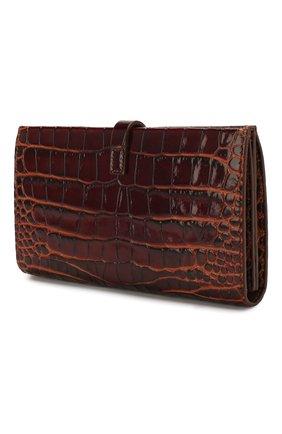 Женские кожаный кошелек BURBERRY коричневого цвета, арт. 8025288 | Фото 2