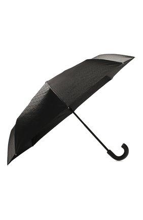 Мужской складной зонт BURBERRY черного цвета, арт. 8024788 | Фото 2 (Материал: Синтетический материал, Текстиль)