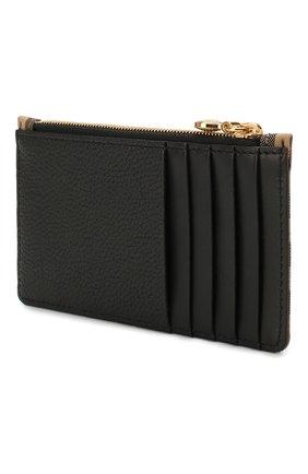 Женский футляр для кредитных карт BURBERRY черного цвета, арт. 8022562 | Фото 2