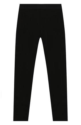 Детского брюки KARL LAGERFELD KIDS черного цвета, арт. Z14124 | Фото 2