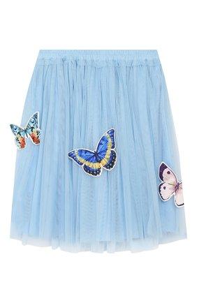 Детская юбка CHARABIA голубого цвета, арт. S13002   Фото 1