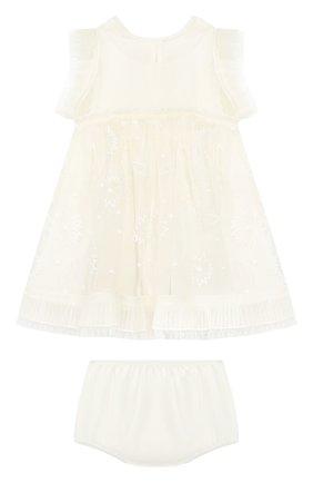 Шелковое платье с шортами | Фото №1