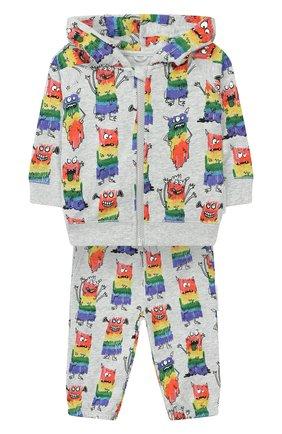 Детский комплект из толстовки и брюк STELLA MCCARTNEY разноцветного цвета, арт. 600140/S0J24 | Фото 1