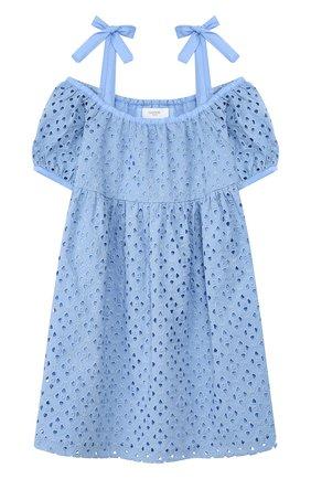 Детское хлопковый сарафан PAADE MODE голубого цвета, арт. 20210301/6M-8Y | Фото 1