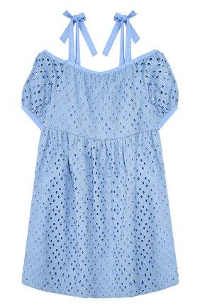 Детское хлопковый сарафан PAADE MODE голубого цвета, арт. 20210301/6M-8Y | Фото 2