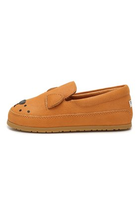 Детские кожаные слипоны DONSJE AMSTERDAM оранжевого цвета, арт. 0908-ST006-CL005 | Фото 2