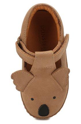 Детские кожаные слипоны DONSJE AMSTERDAM бежевого цвета, арт. 0900-ST025-CL003 | Фото 4
