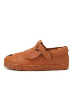 Детские кожаные слипоны DONSJE AMSTERDAM коричневого цвета, арт. 0901-ST005-CL001 | Фото 2