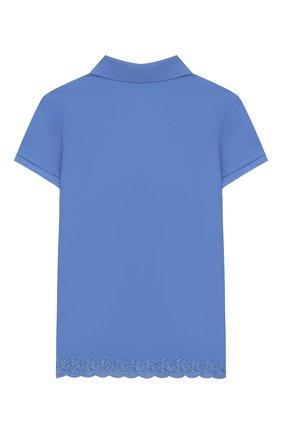 Детское хлопковое поло POLO RALPH LAUREN голубого цвета, арт. 312783917 | Фото 2