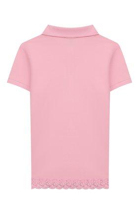Детское хлопковое поло POLO RALPH LAUREN розового цвета, арт. 312783917 | Фото 2