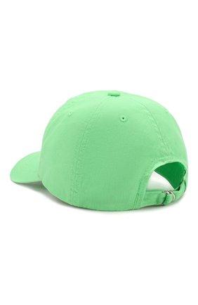 Детская хлопковая бейсболка POLO RALPH LAUREN зеленого цвета, арт. 313788942 | Фото 2