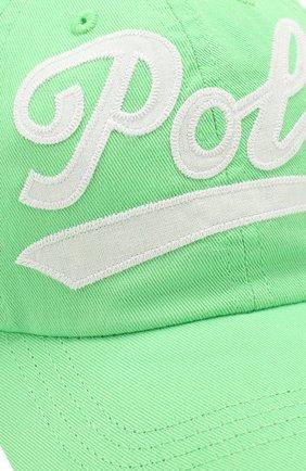 Детская хлопковая бейсболка POLO RALPH LAUREN зеленого цвета, арт. 313788942 | Фото 3 (Материал: Текстиль, Хлопок)