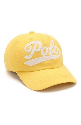 Детская хлопковая бейсболка POLO RALPH LAUREN желтого цвета, арт. 313788942 | Фото 1