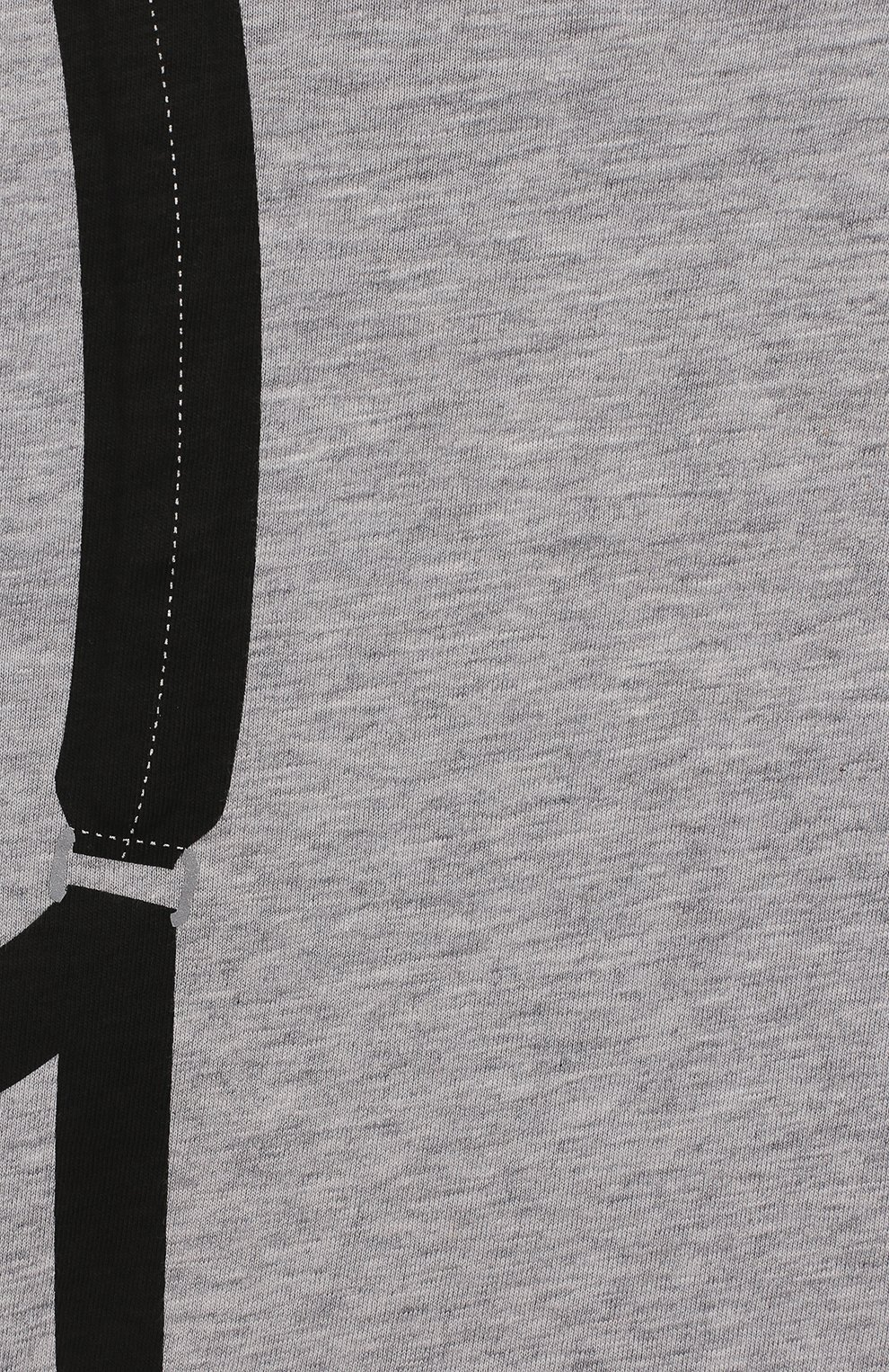 Детский хлопковая футболка FENDI серого цвета, арт. BMI199/7AJ/3M-9M | Фото 3