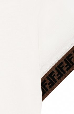 Детский хлопковая футболка FENDI белого цвета, арт. BMI200/7AJ/12M-24M | Фото 3