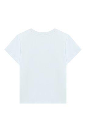 Детский хлопковая футболка FENDI голубого цвета, арт. BUI010/ST8/12M-24M | Фото 2