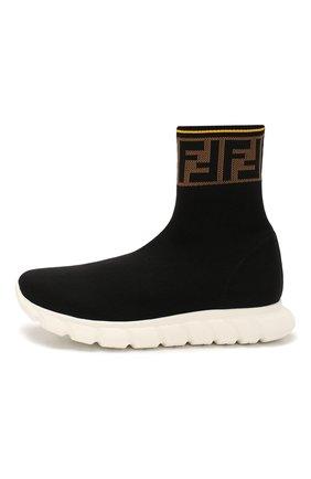 Детские текстильные кроссовки FENDI черного цвета, арт. JMR322/A62L/27-31 | Фото 2