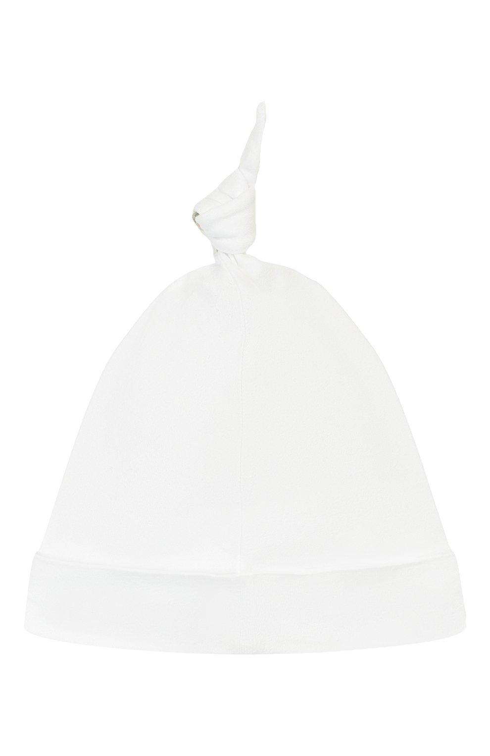 Детского комплект из 3-х предметов BURBERRY белого цвета, арт. 8025495 | Фото 4