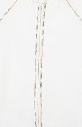 Детского комплект из 3-х предметов BURBERRY белого цвета, арт. 8025495 | Фото 8