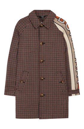 Детское шерстяное пальто BURBERRY разноцветного цвета, арт. 8022623   Фото 1