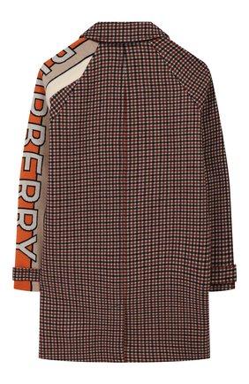 Детское шерстяное пальто BURBERRY разноцветного цвета, арт. 8022623   Фото 2