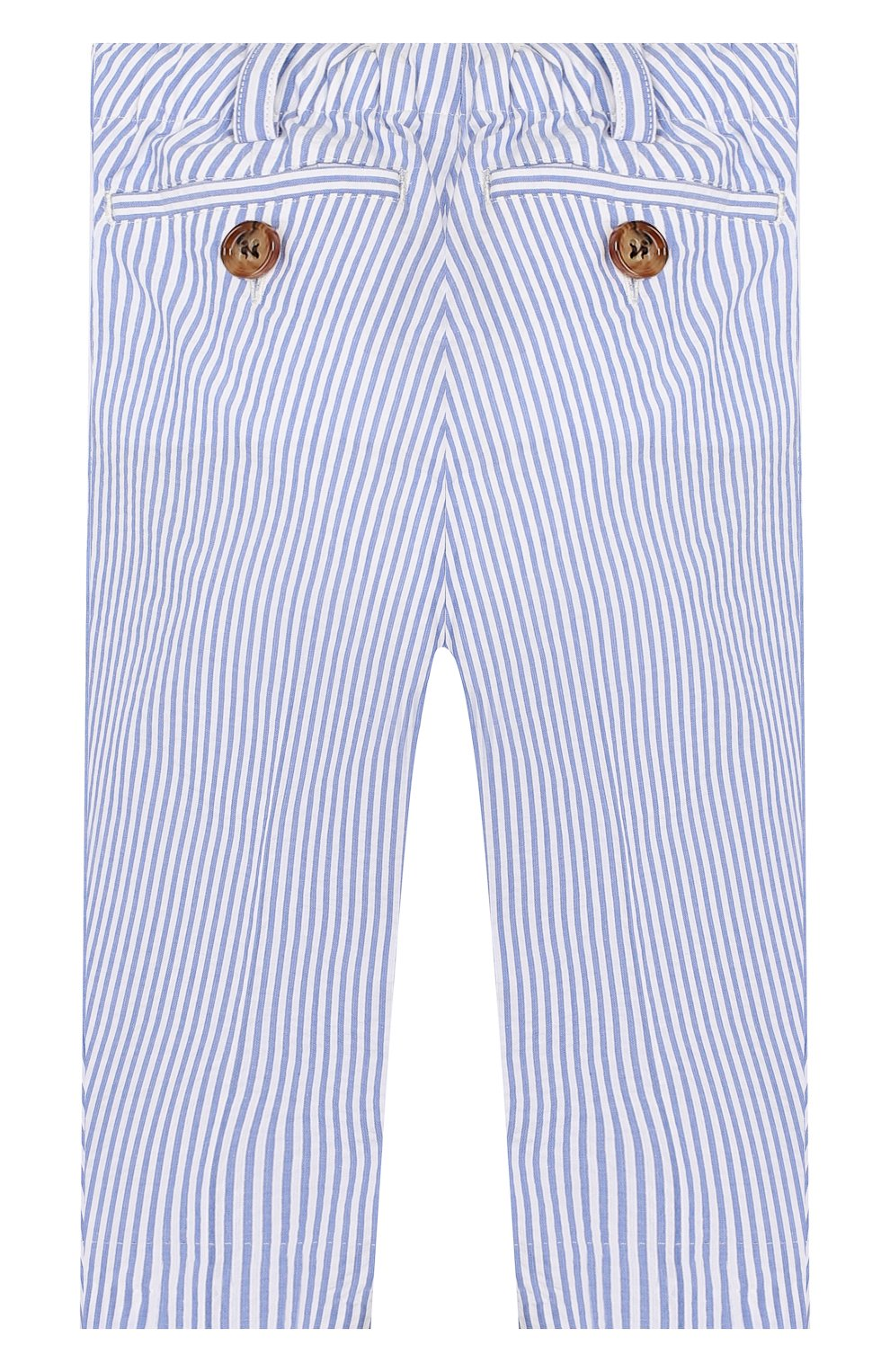 Детские хлопковые брюки BURBERRY голубого цвета, арт. 8022354   Фото 2