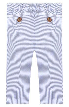 Детские хлопковые брюки BURBERRY голубого цвета, арт. 8022354 | Фото 2