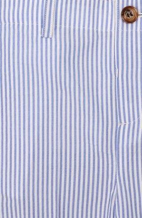 Детские хлопковые брюки BURBERRY голубого цвета, арт. 8022354   Фото 3
