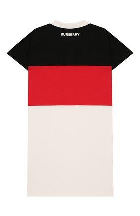 Детское хлопковое платье BURBERRY разноцветного цвета, арт. 8022213 | Фото 2