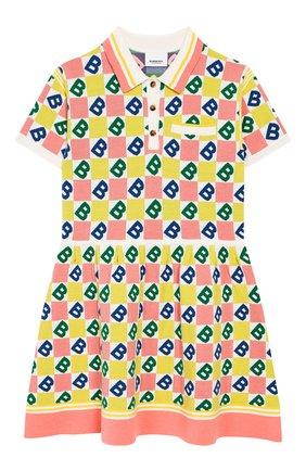 Детское платье из шерсти и хлопка BURBERRY разноцветного цвета, арт. 8022171 | Фото 1