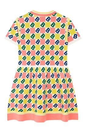 Детское платье из шерсти и хлопка BURBERRY разноцветного цвета, арт. 8022171 | Фото 2