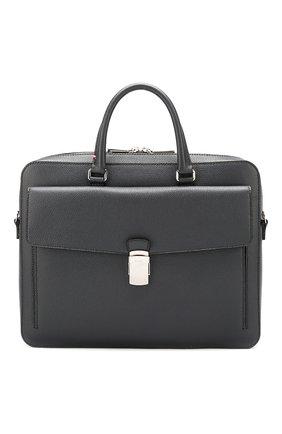 Мужская кожаная сумка для ноутбука gherman BALLY темно-серого цвета, арт. GHERMAN SM/35 | Фото 1