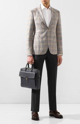 Мужская кожаная сумка для ноутбука gherman BALLY темно-серого цвета, арт. GHERMAN SM/35 | Фото 2