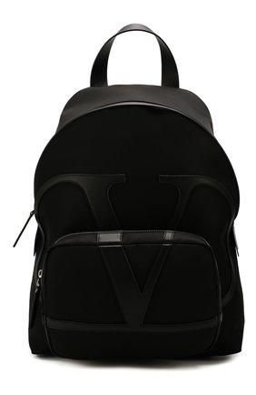 Мужской текстильный рюкзак valentino garavani vlogo VALENTINO черного цвета, арт. TY2B0887/MLI | Фото 1