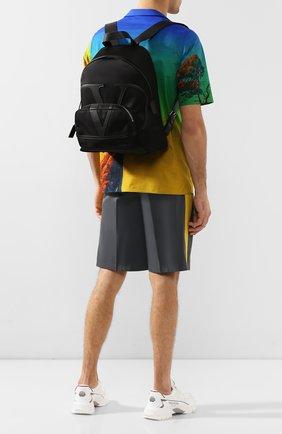 Мужской текстильный рюкзак valentino garavani vlogo VALENTINO черного цвета, арт. TY2B0887/MLI | Фото 2