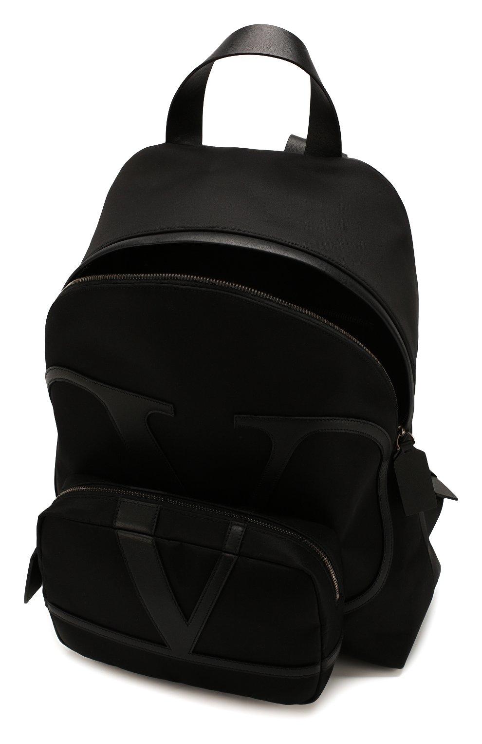 Мужской текстильный рюкзак valentino garavani vlogo VALENTINO черного цвета, арт. TY2B0887/MLI | Фото 4