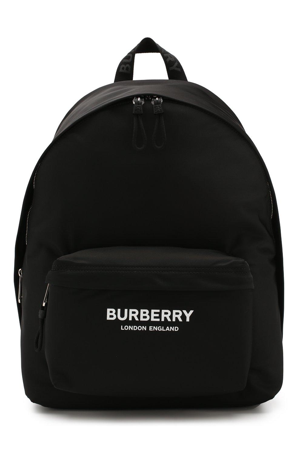 Мужской текстильный рюкзак BURBERRY черного цвета, арт. 8021084 | Фото 1