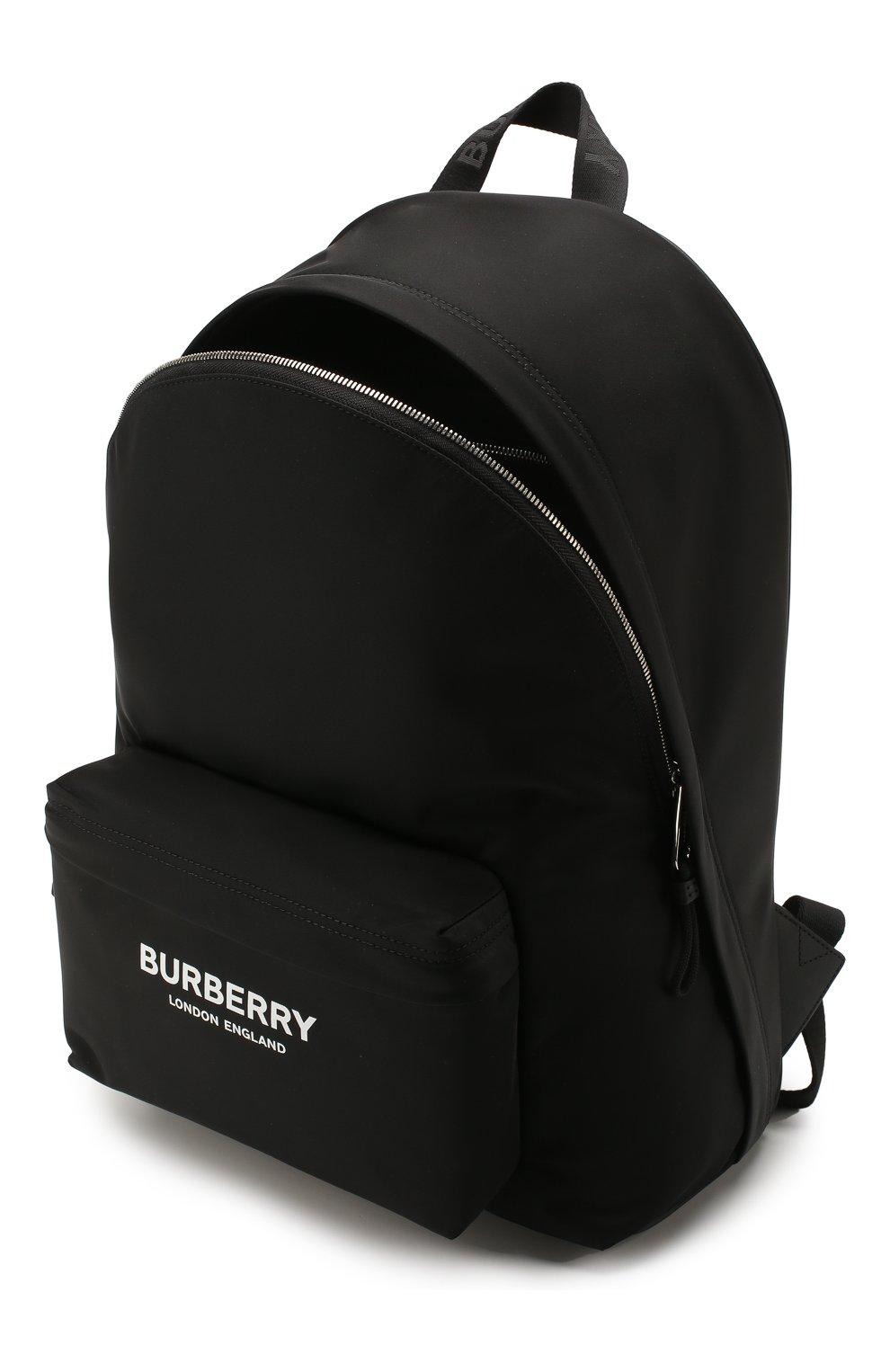 Мужской текстильный рюкзак BURBERRY черного цвета, арт. 8021084 | Фото 4